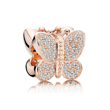 Rose Gold Butterfly Crystal Charm